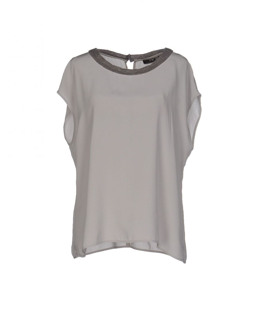 Image for Pme Peserico Woman Blouses Light grey Silk