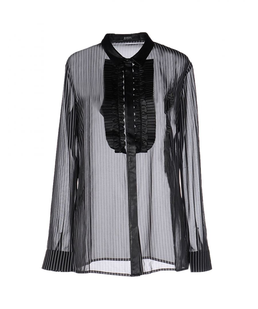 Image for Guess Black Chiffon Blouse