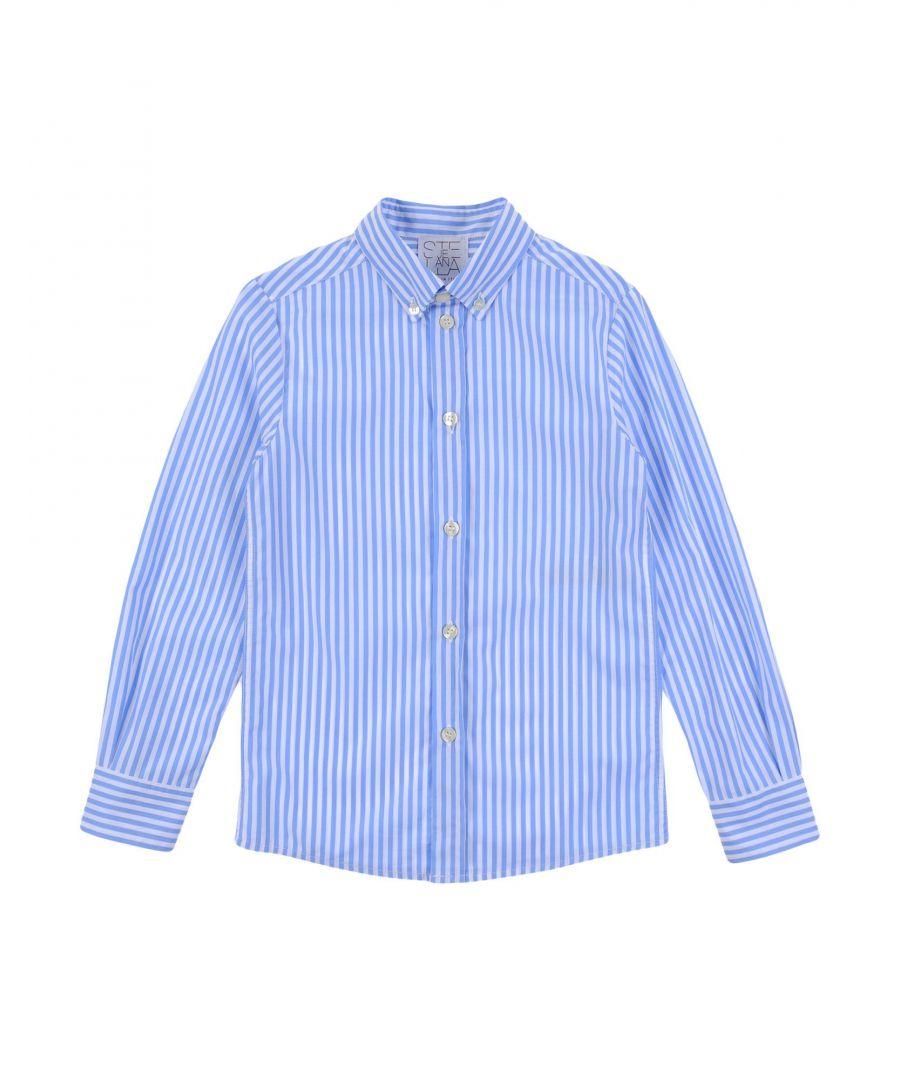 Image for Stella Jean Girl Shirts Azure Cotton