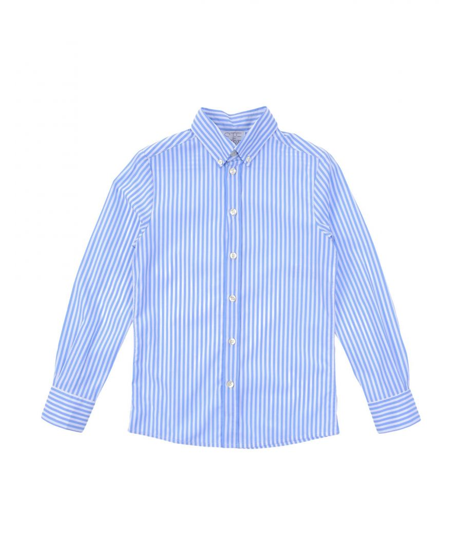 Image for Stella Jean Boy Shirts Sky blue Cotton