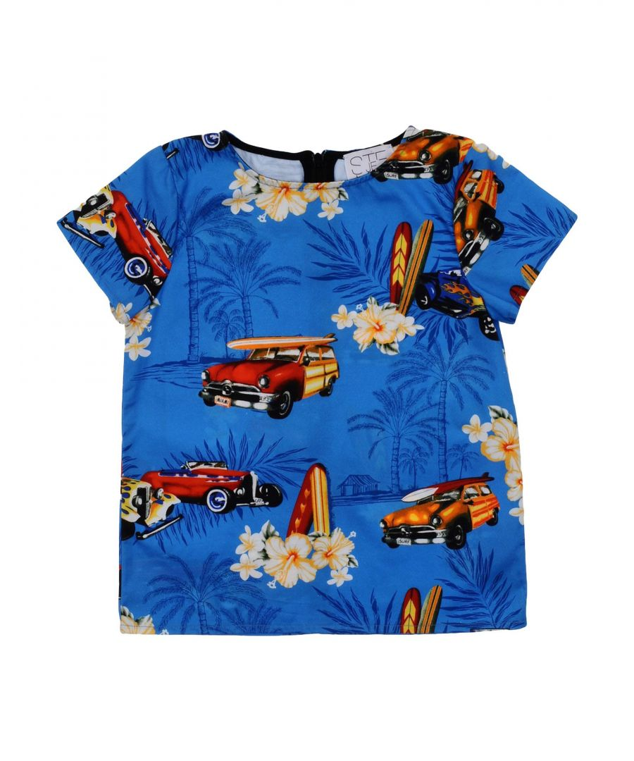 Image for Stella Jean Girl Blouses Blue Cotton