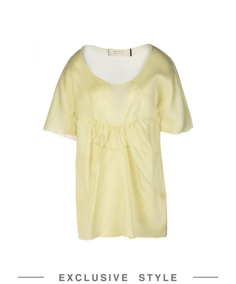 Image for Marni Acid green Silk Bluse