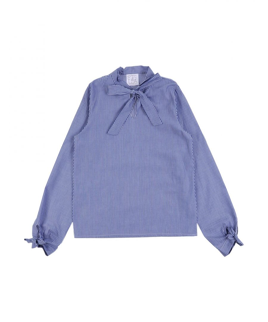 Image for Stella Jean Girl Shirts Blue Cotton