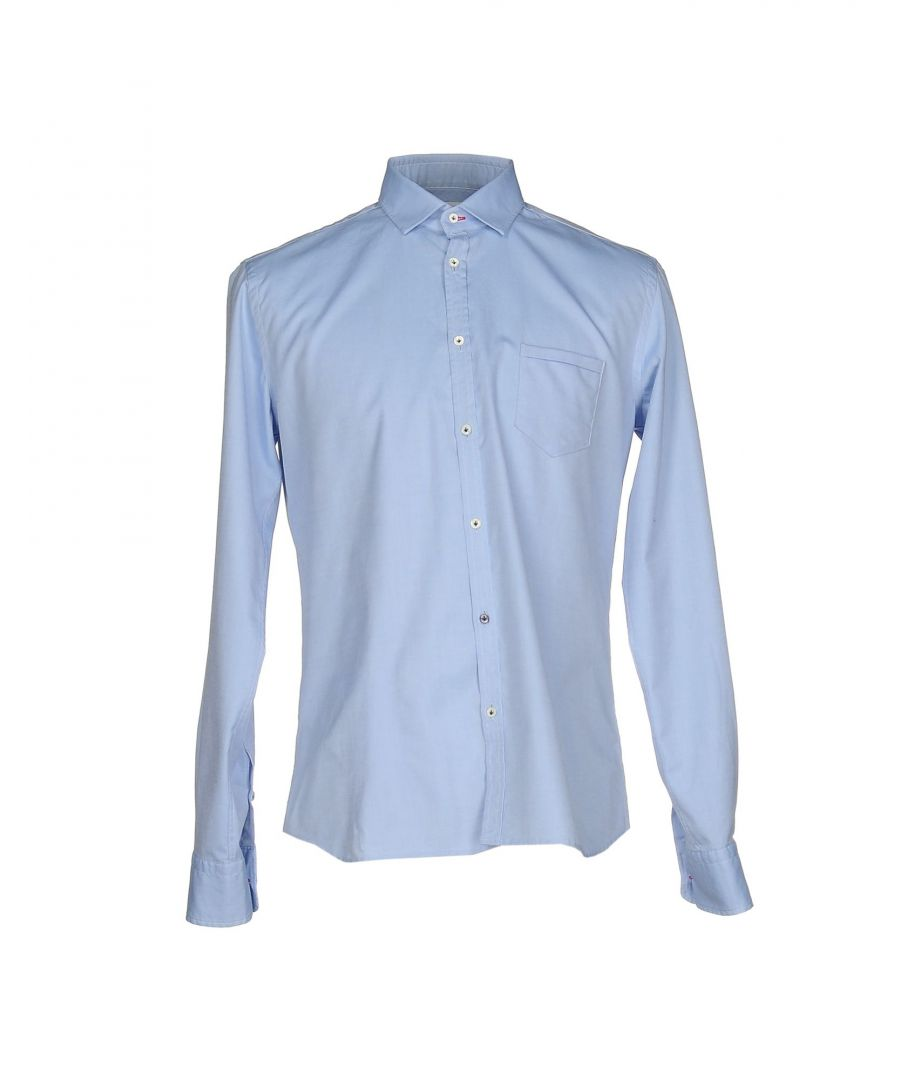 Image for Aglini Sky Blue Cotton Shirt