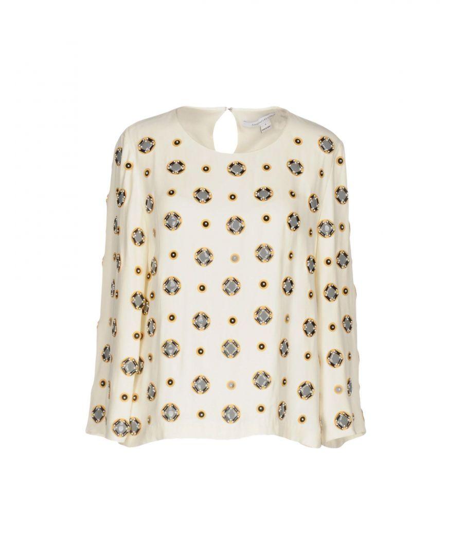Image for Diane Von Furstenberg Ivory Silk Blouse
