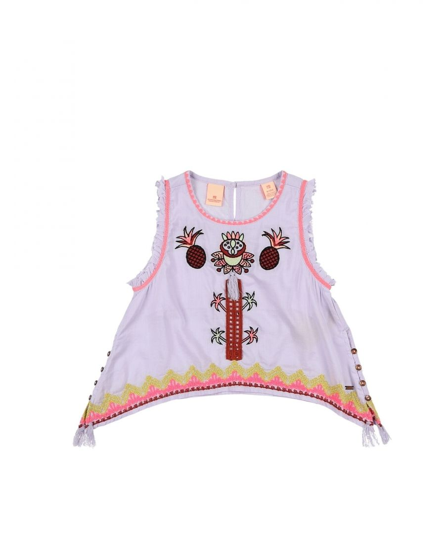 Image for Scotch R'Belle Lilac Girl Cotton Shirt