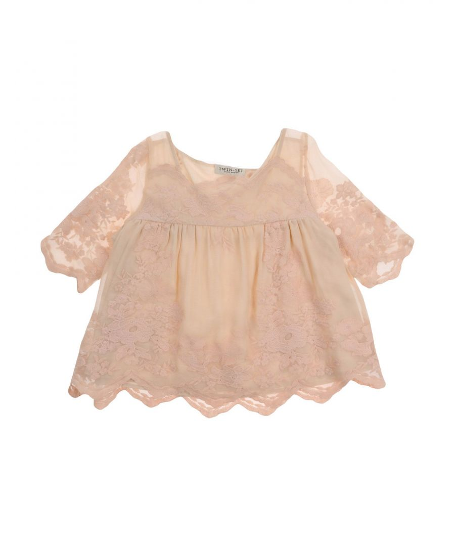 Image for SHIRTS Twinset Beige Girl Silk