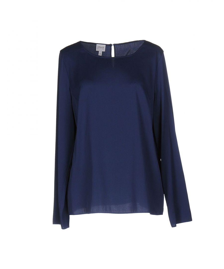Image for Armani Collezioni Dark Blue Silk Blouse