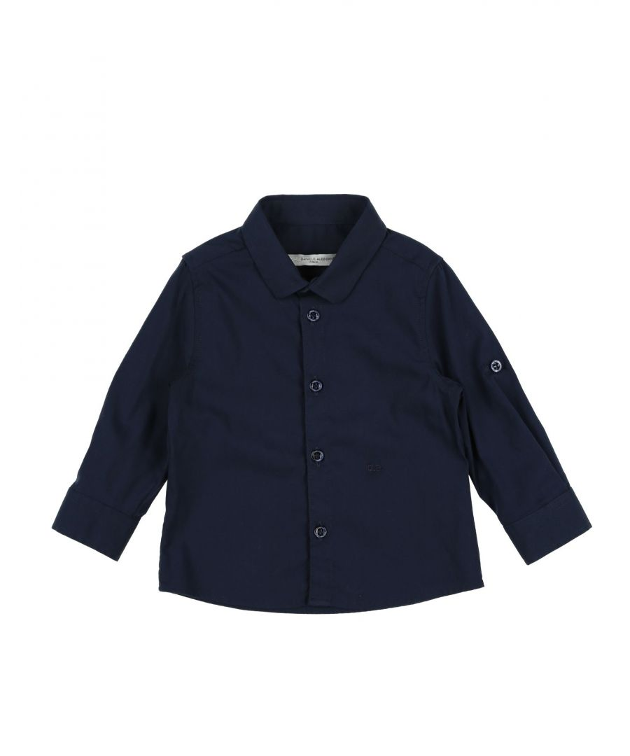 Image for SHIRTS Daniele Alessandrini Dark blue Boy Cotton