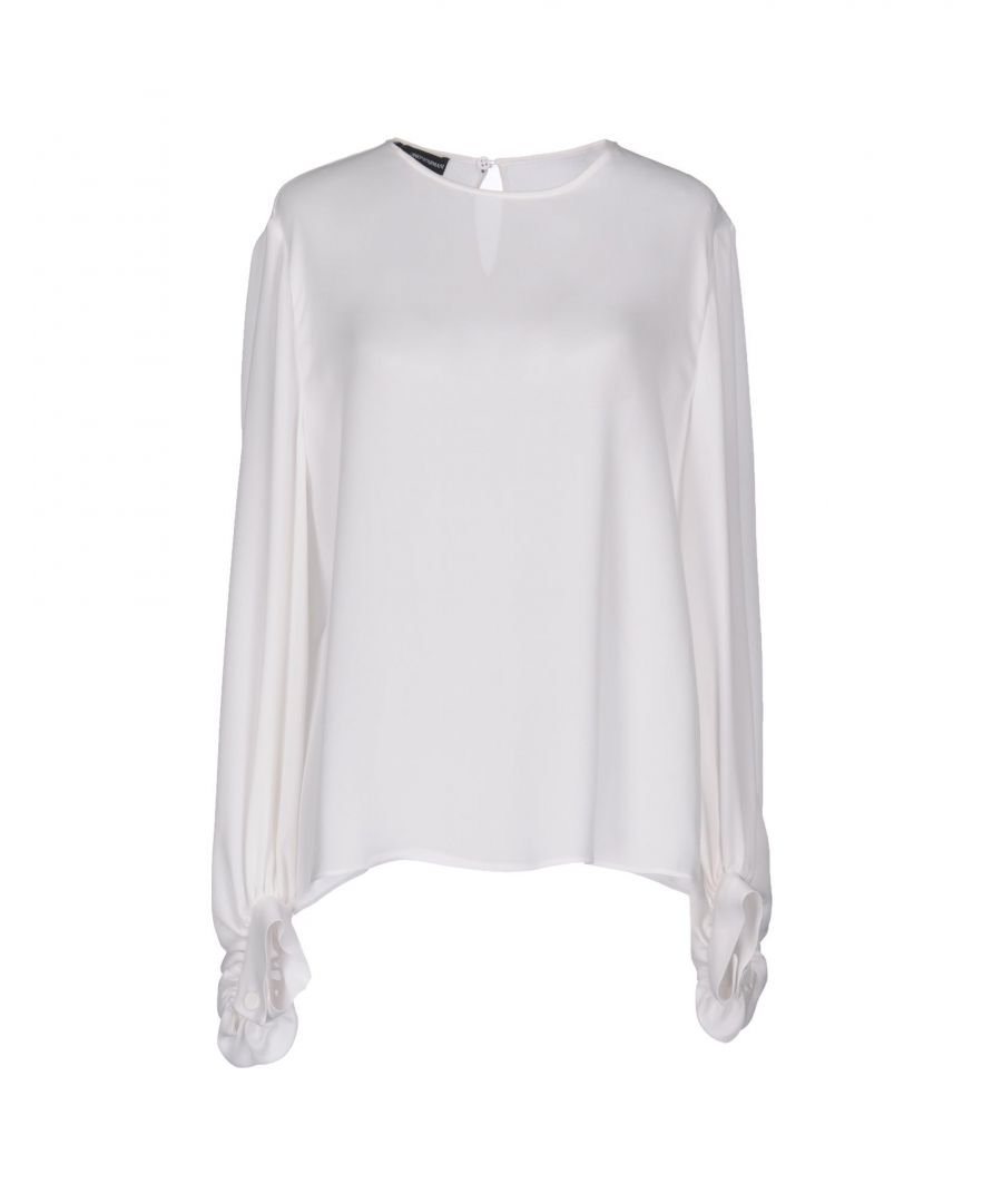 Image for Emporio Armani White Silk Blouse