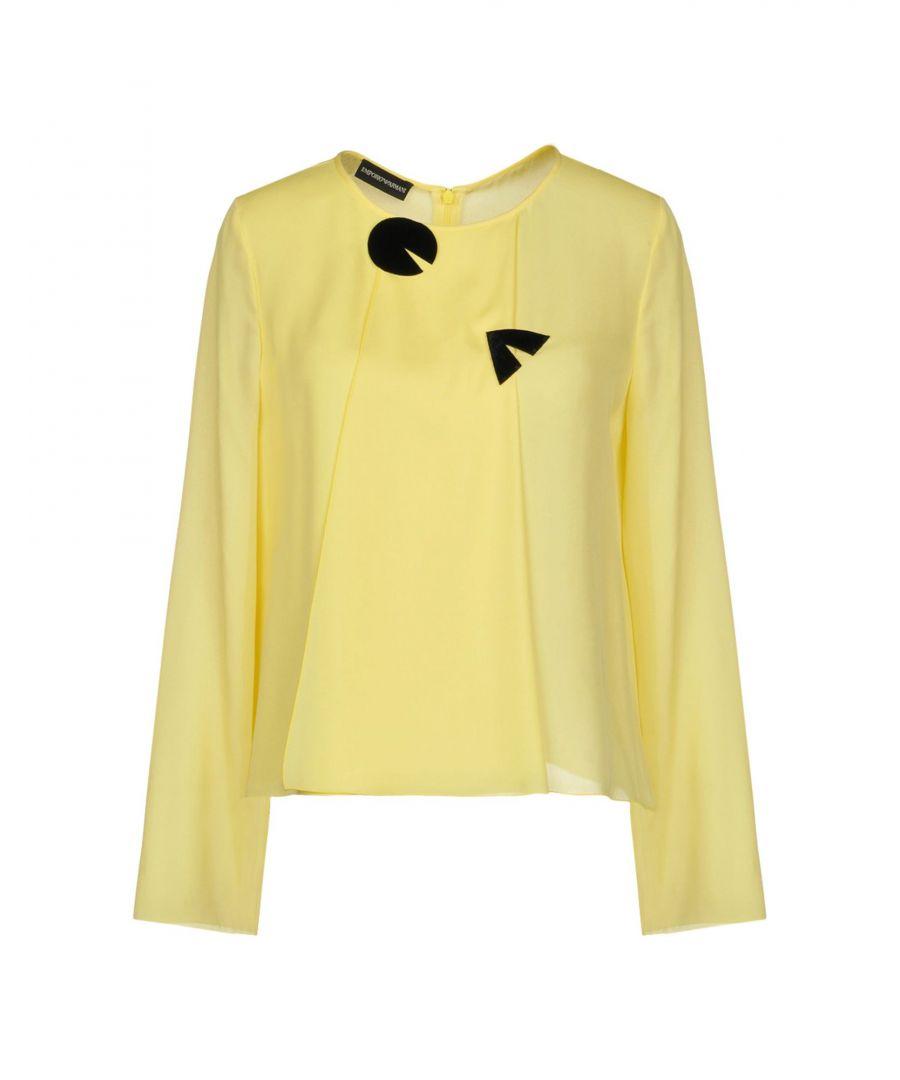 Image for Emporio Armani Yellow Silk Long Sleeve Blouse