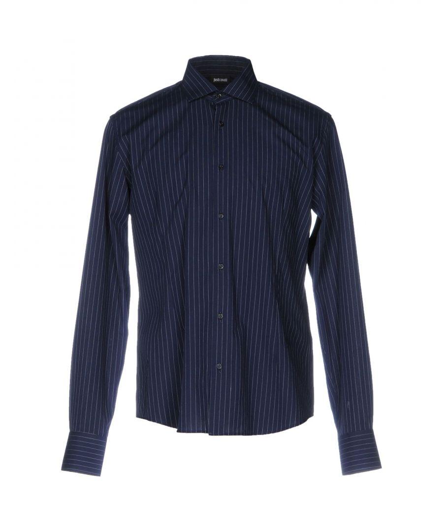 Image for Just Cavalli Dark Blue Cotton Shirt