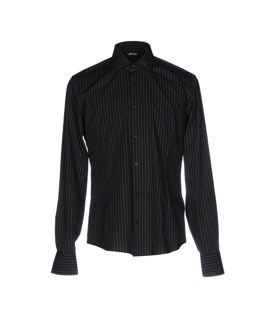 Image for Just Cavalli Black Pinstripe Cotton Shirt