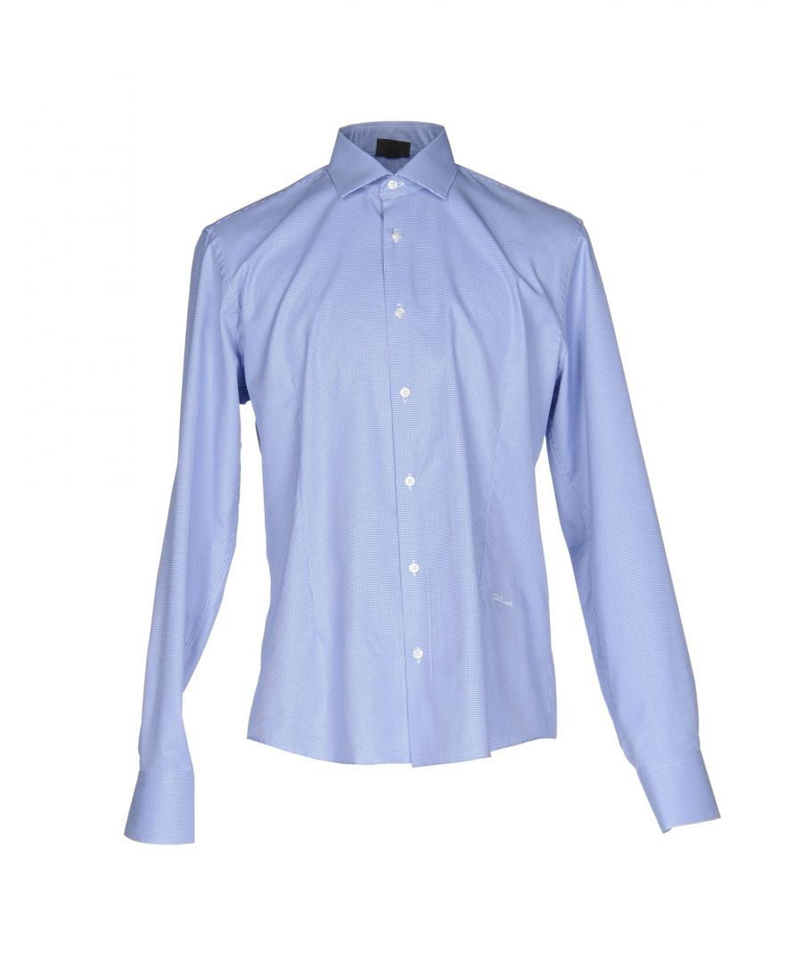 Image for Just Cavalli Blue Cotton Shirt