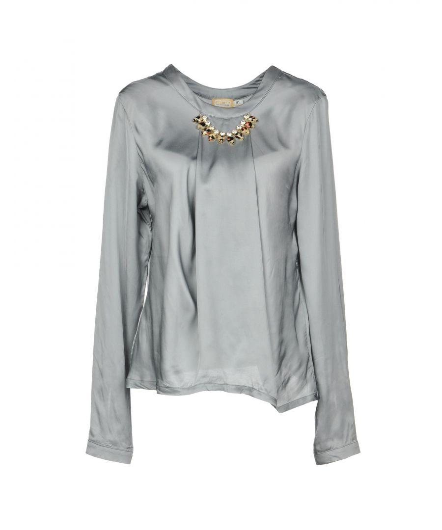 Image for Met Jeans Grey Satin Embellished Blouse