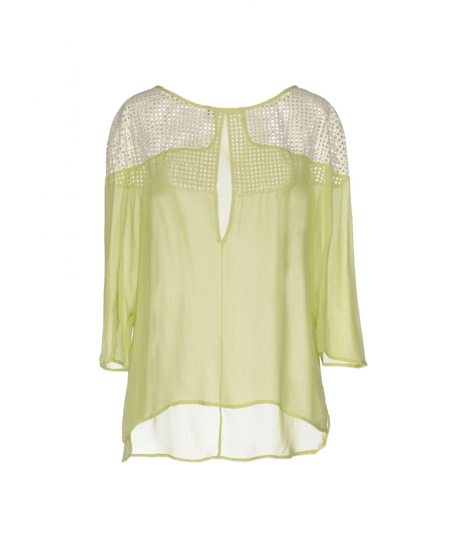 Image for Pianurastudio Acid Green Crepe Blouse