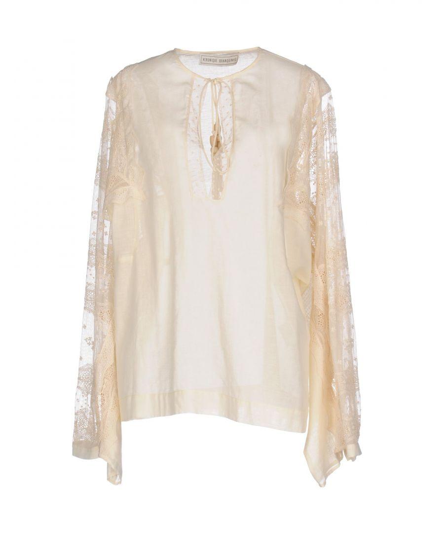 Image for Veronique Branquinho Ivory Cotton Lace Long Sleeve Blouse