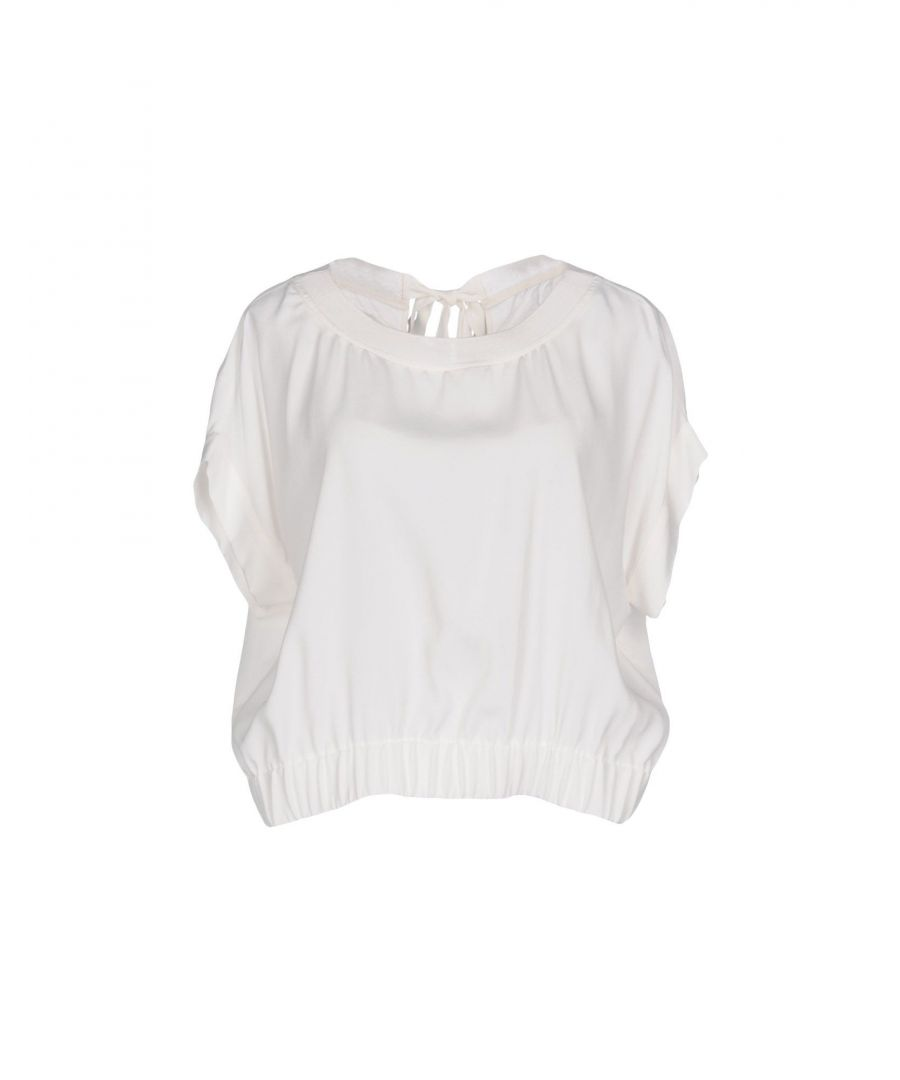 Image for Boutique Moschino White Crepe Blouse