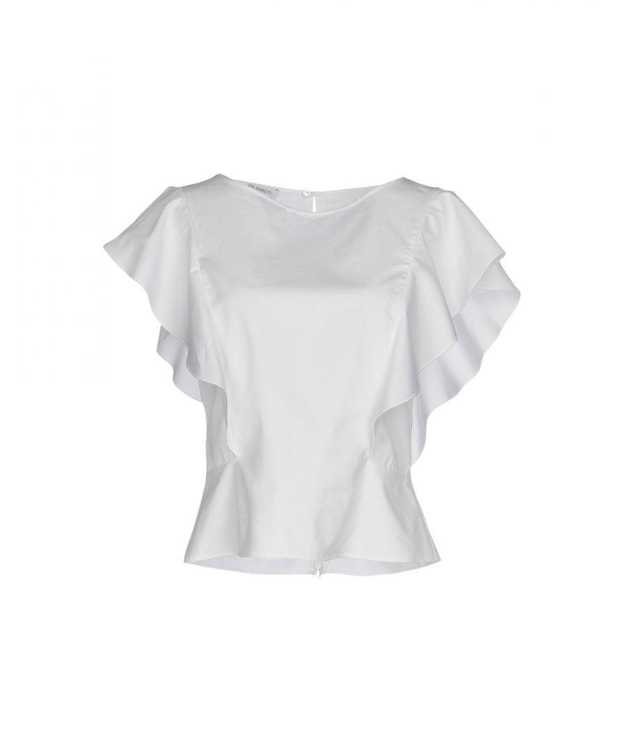 Image for Alberta Ferretti White Cotton Blouse