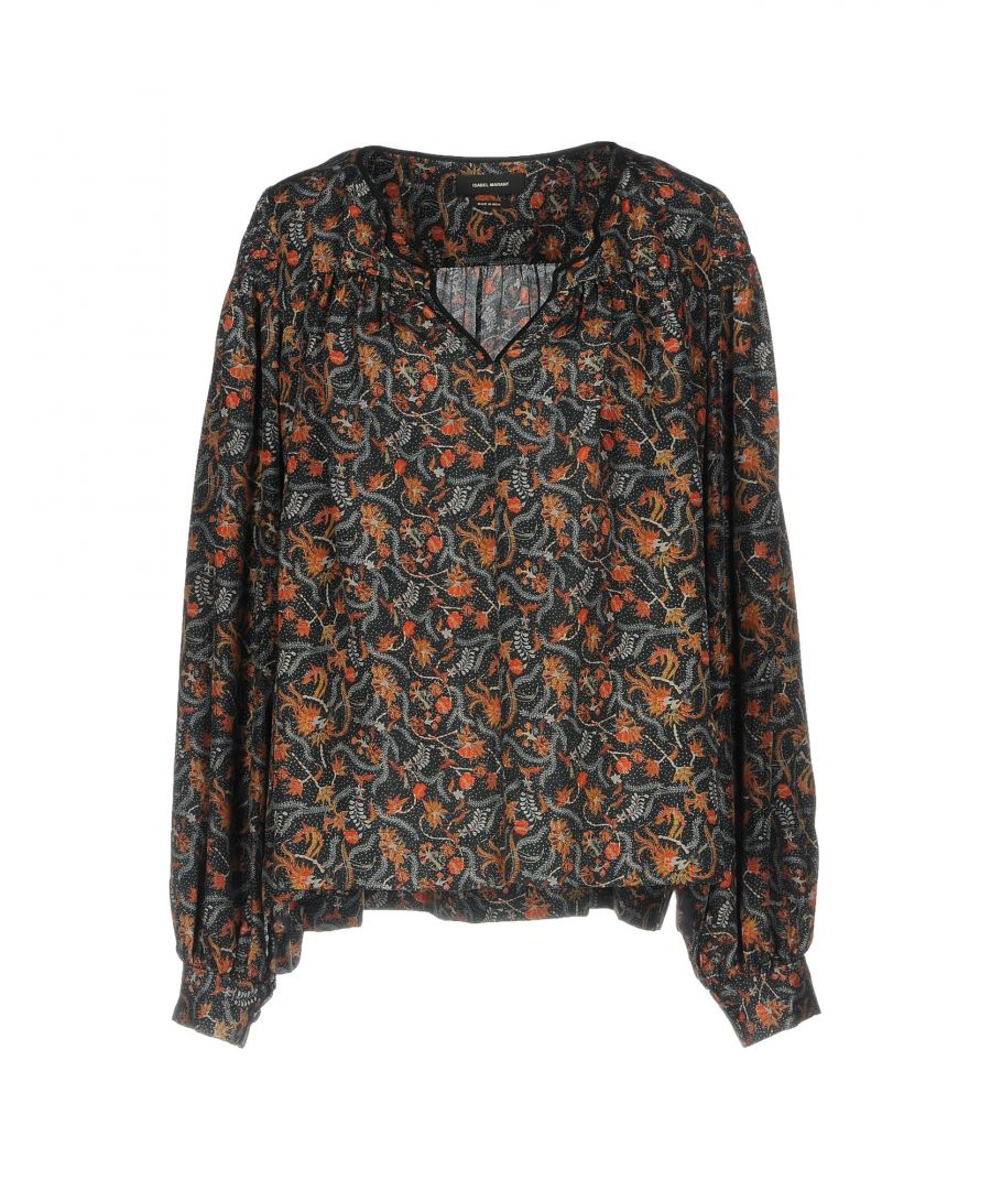 Image for Isabel Marant Lead Print Silk Blouse