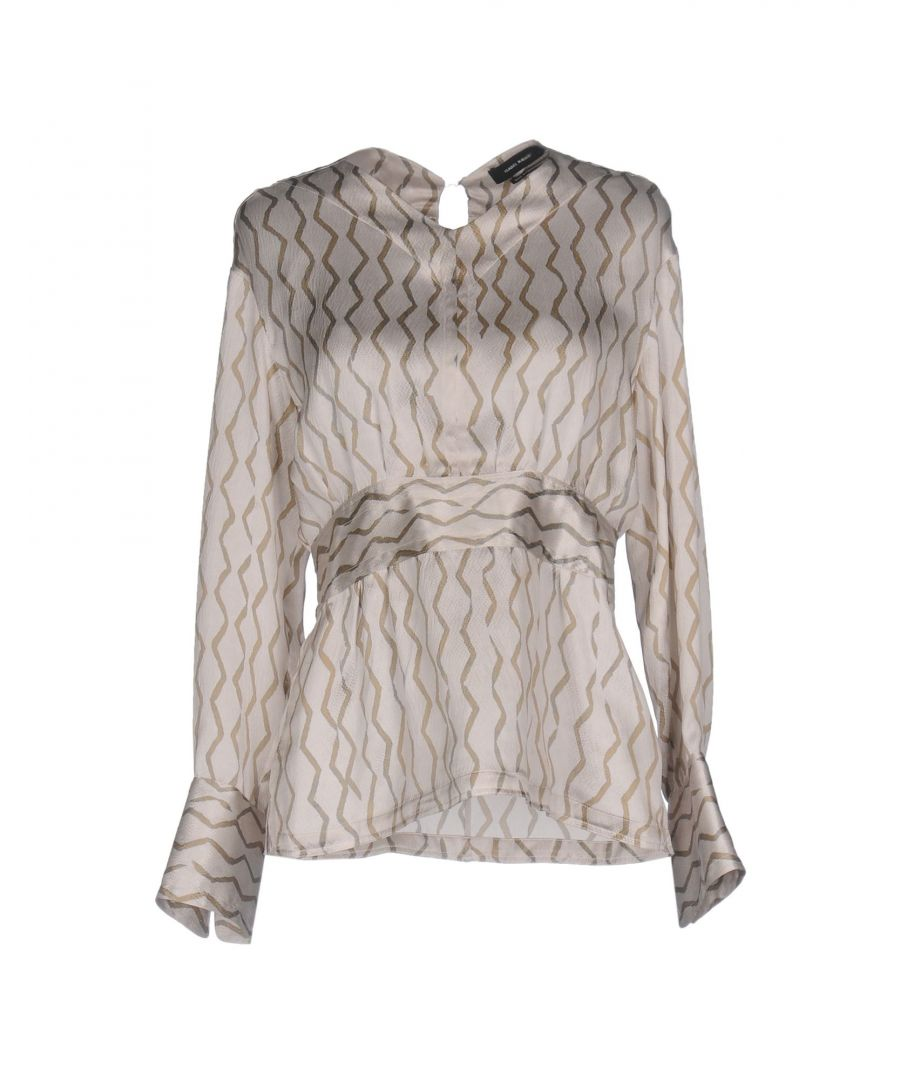 Image for Isabel Marant Light Grey Print Silk Blouse