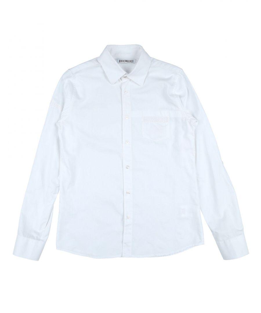 Image for SHIRTS Bikkembergs White Boy Cotton