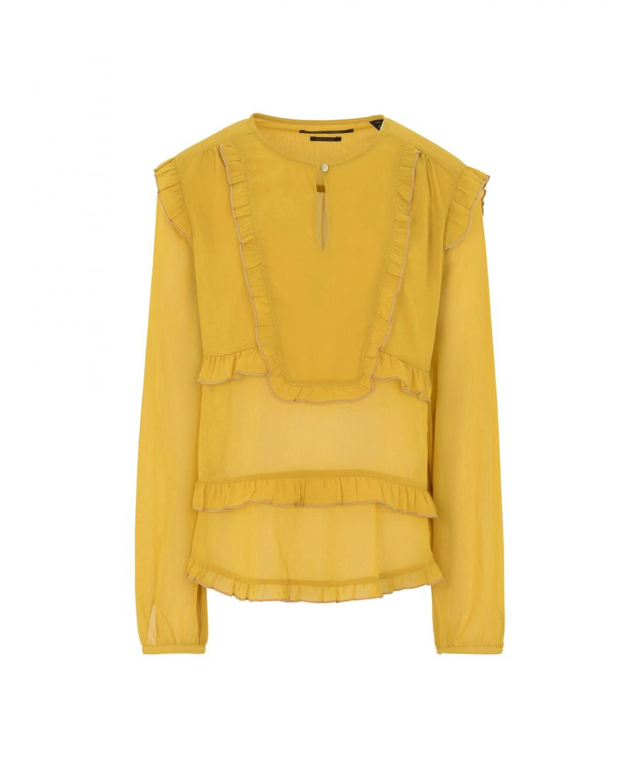 Image for Maison Scotch Yellow Crepe Blouse