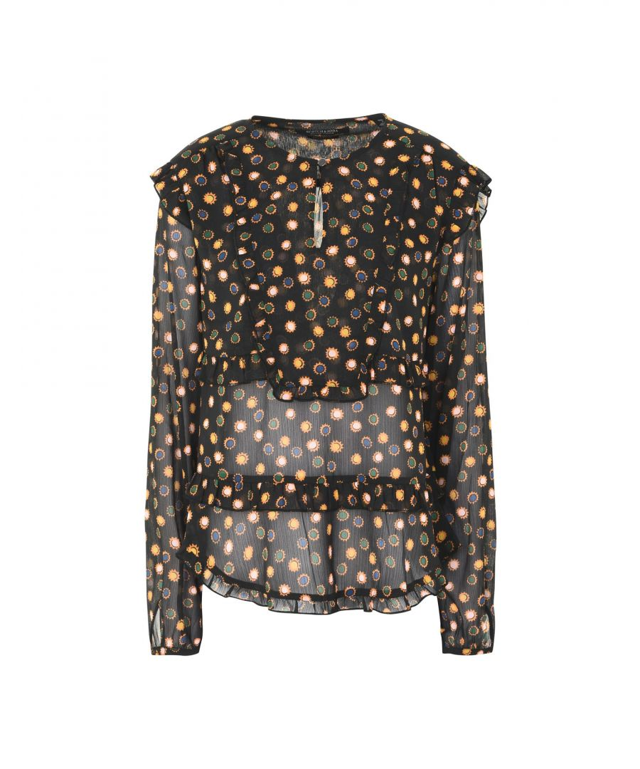 Image for Maison Scotch Black Pattern Crepe Blouse