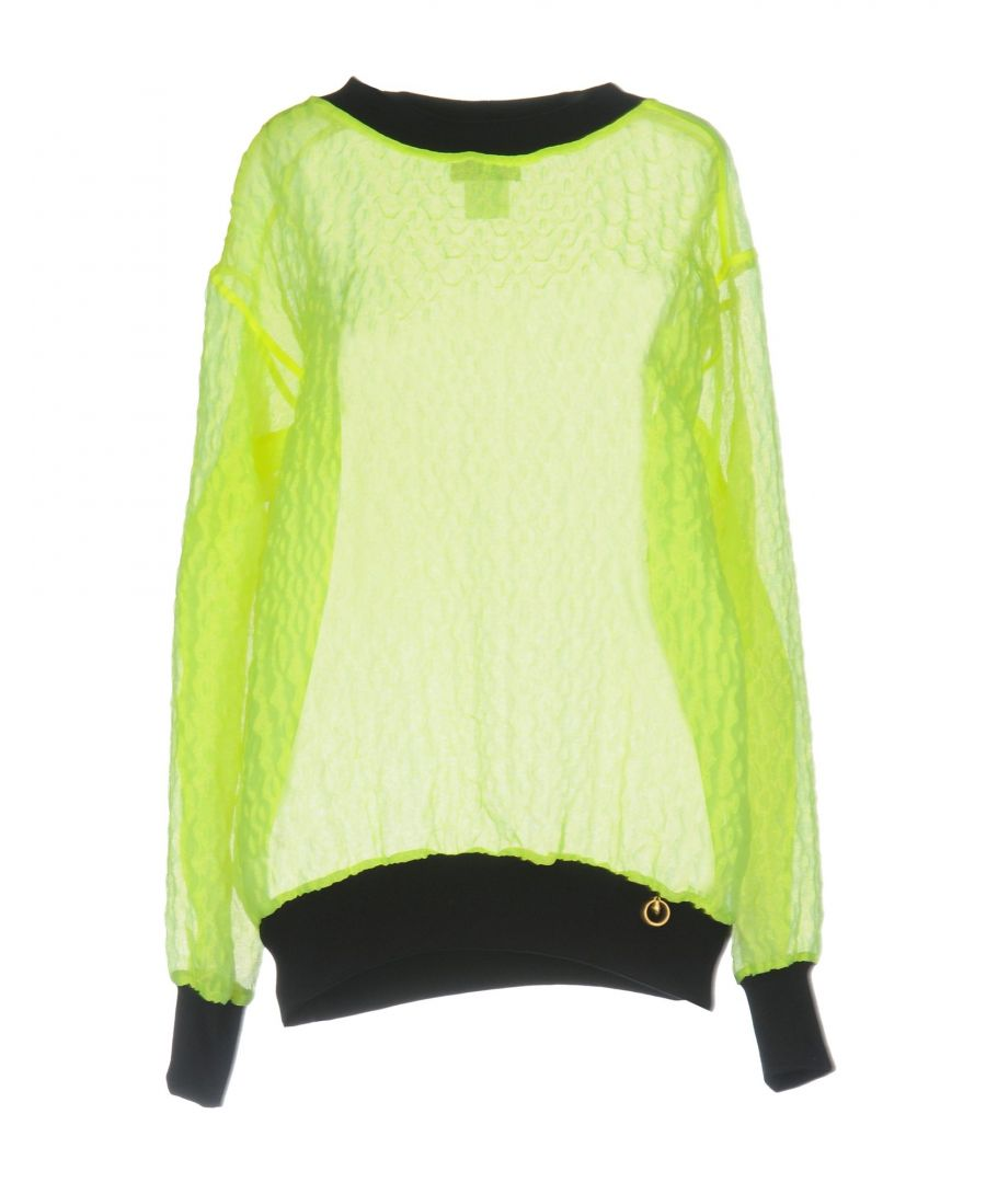 Image for Cavalli Class Acid Green Long Sleeve Knit