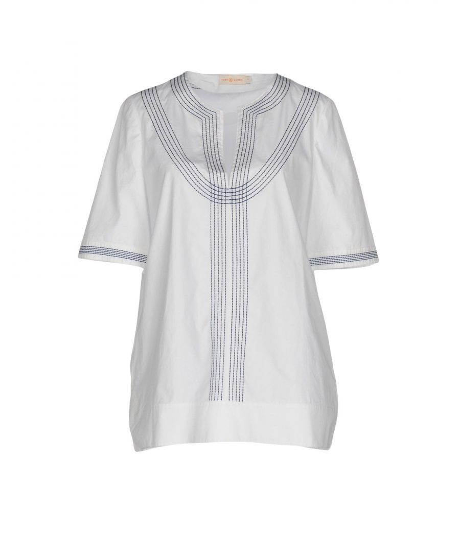 Image for Tory Burch White Cotton Embroidered Blouse