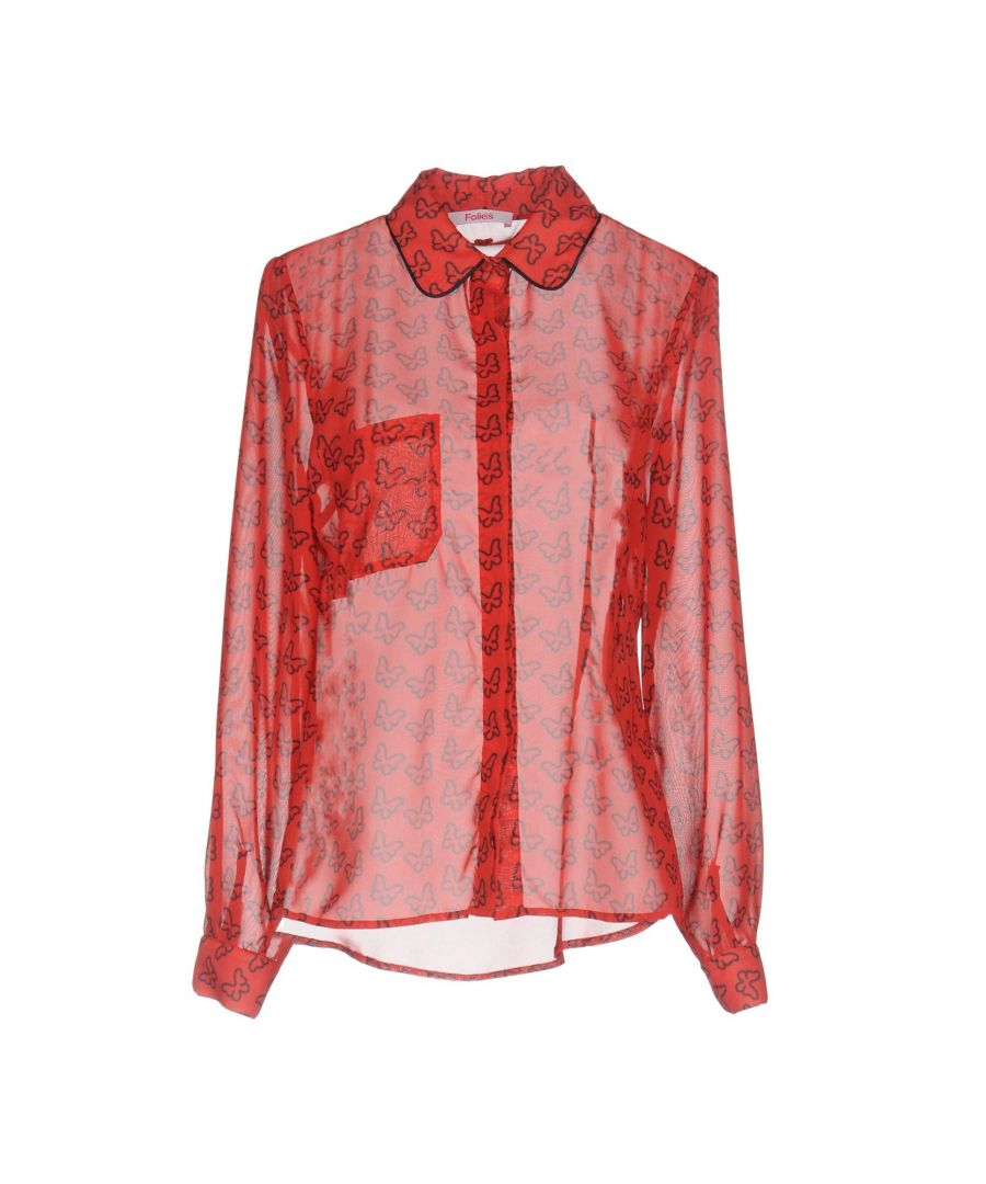 Image for Blugirl Blumarine Red Crepe Shirt