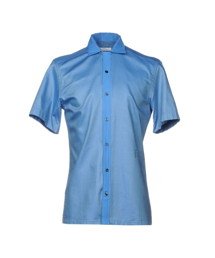 Image for Versace Collection Azure Cotton Shirt