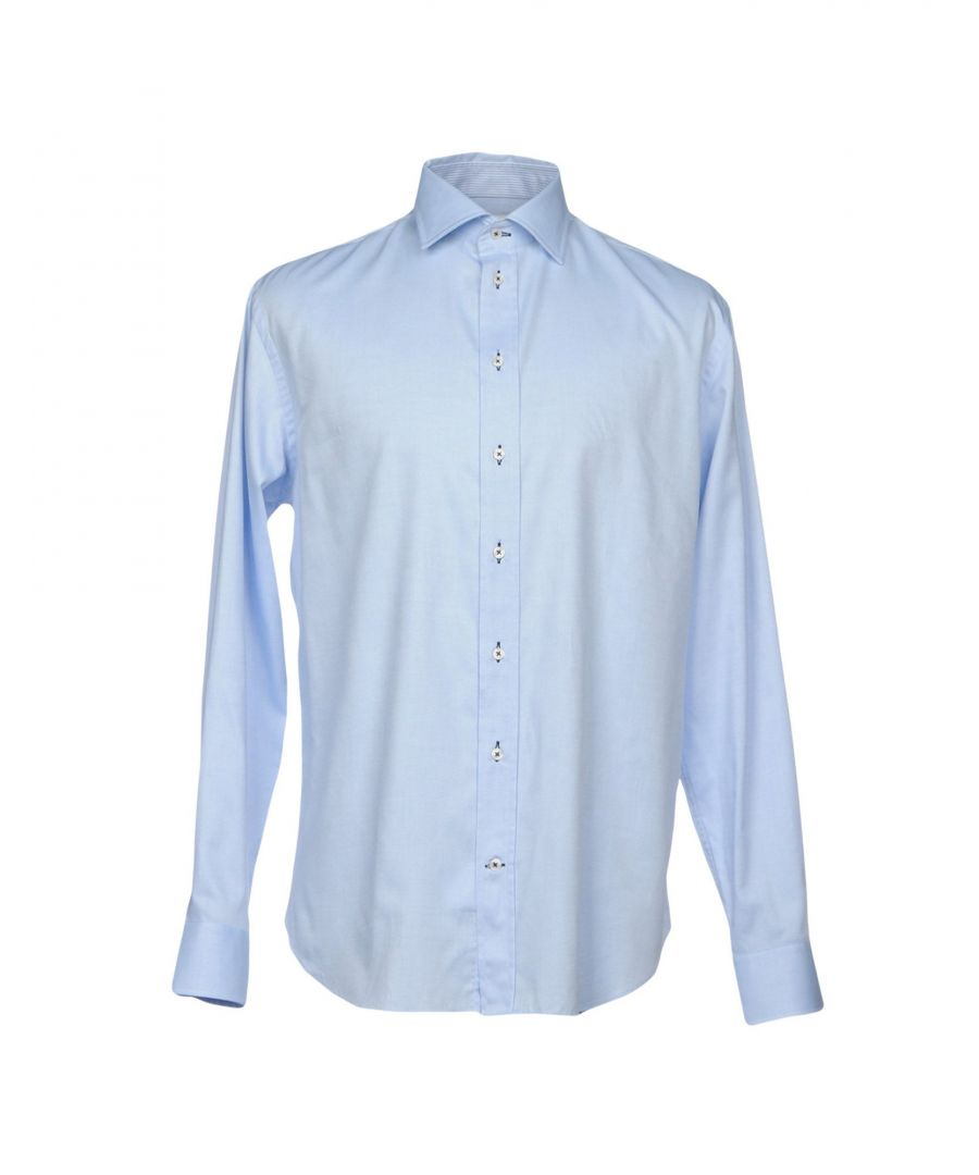 Image for Armani Collezioni Sky Blue Cotton Shirt