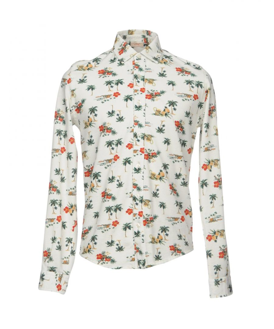 Image for Altea Ivory Floral Print Cotton Shirt