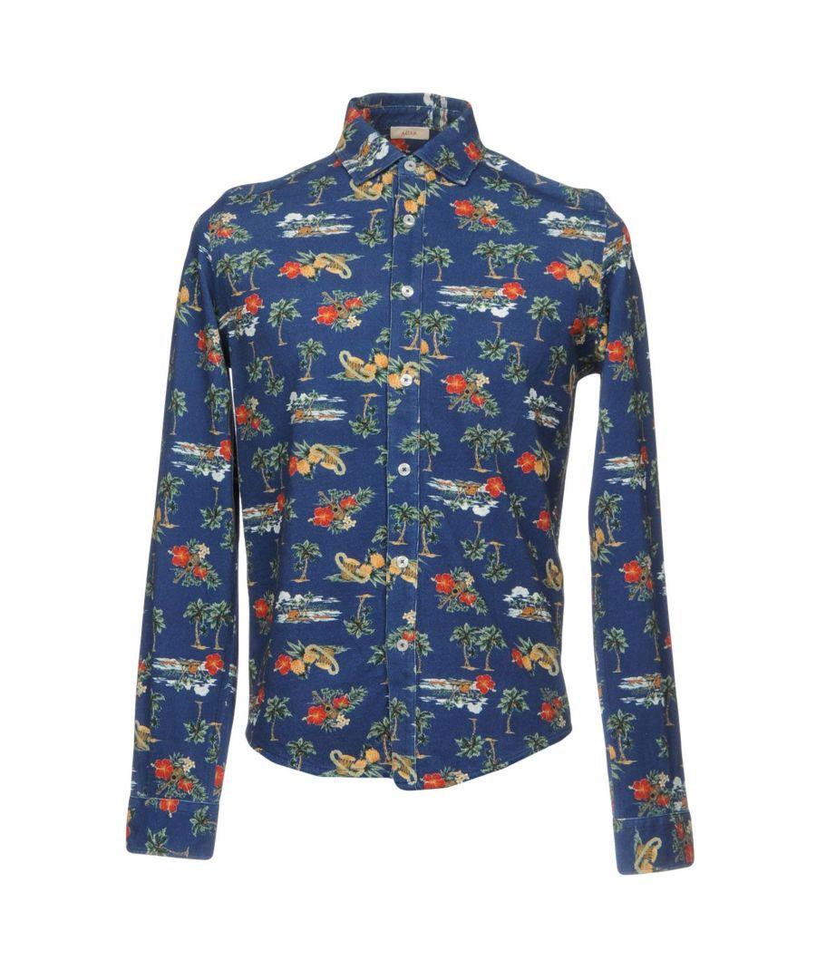 Image for Altea Dark Blue Floral Print Cotton Shirt