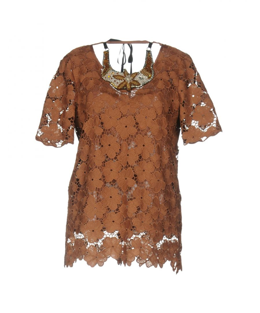 Image for SHIRTS Anna Rachele Jeans Collection Brown Woman Polyester