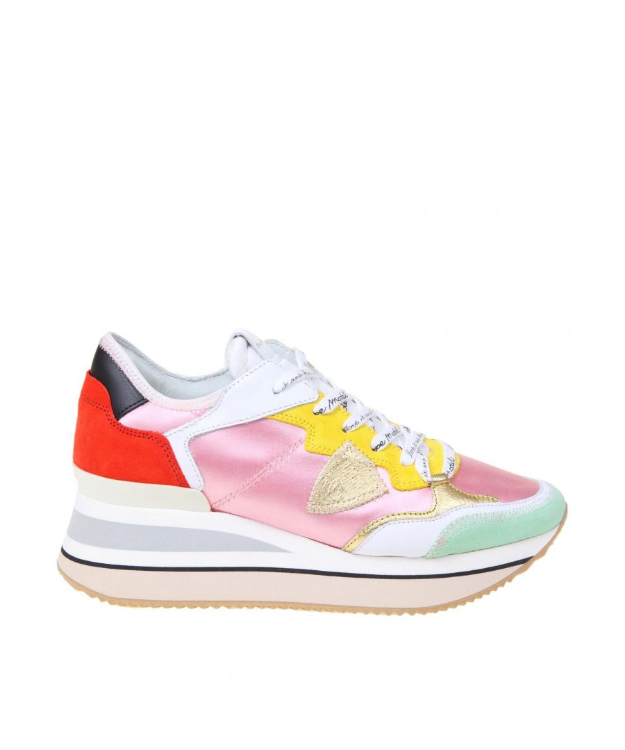 Image for PHILIPPE MODEL WOMEN'S TTLDFS03 MULTICOLOR LEATHER SNEAKERS