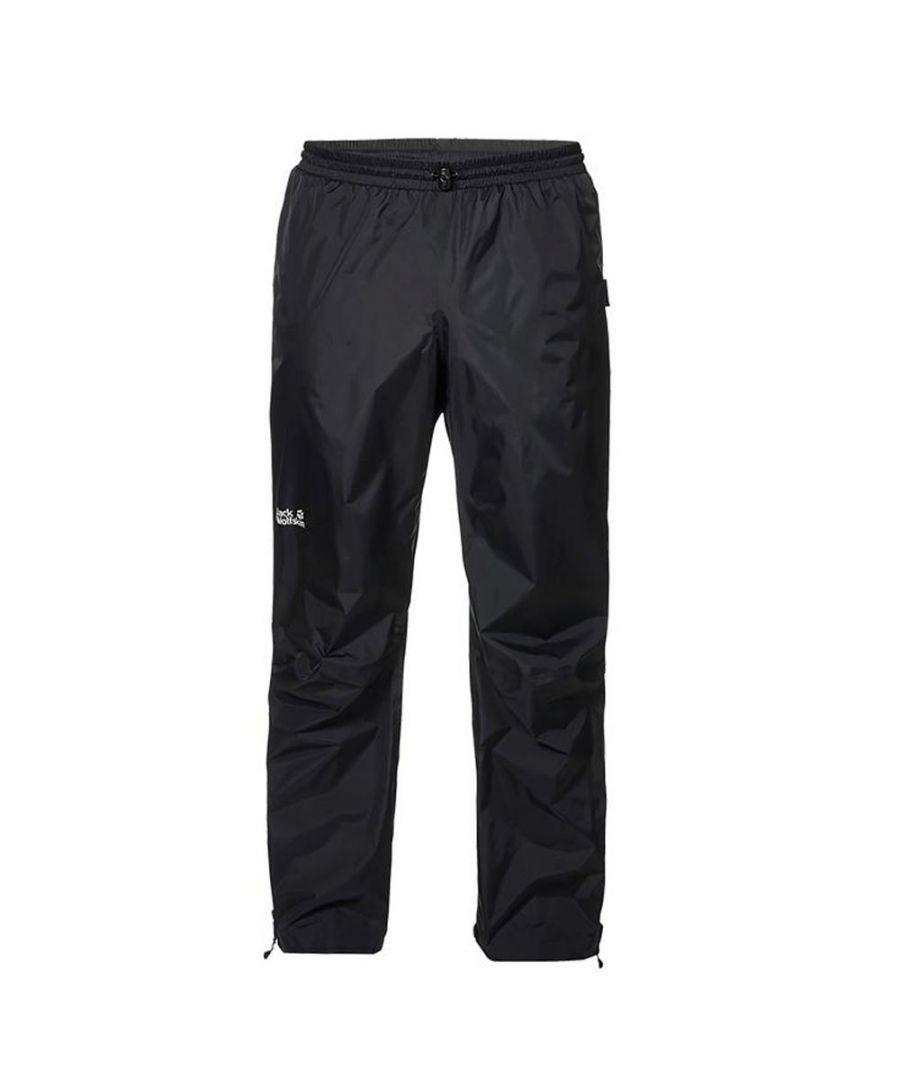 Image for Jack Wolfskin Cloudburst Mens Waterproof Pant Black - L