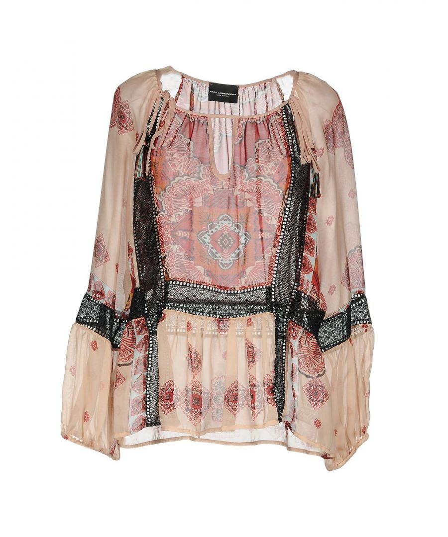 Image for Atos Lombardini Pale Pink Silk Blouse