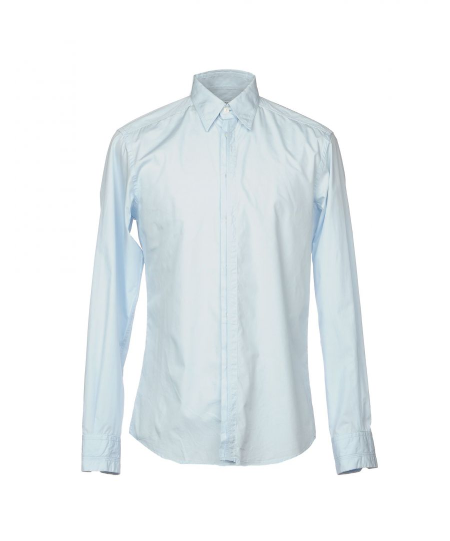 Image for Versace Collection Sky Blue Cotton Shirt