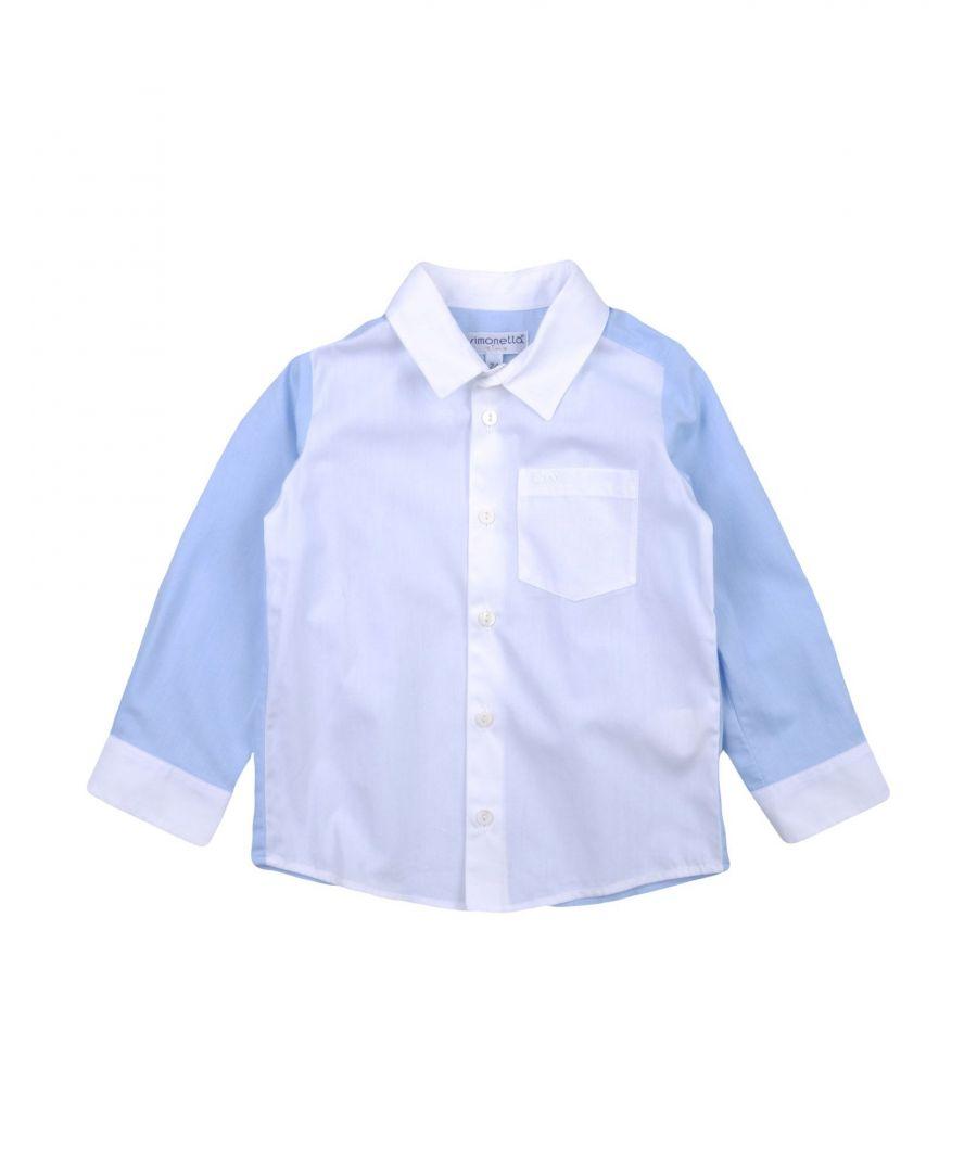 Image for SHIRTS Simonetta Tiny Sky blue Boy Cotton