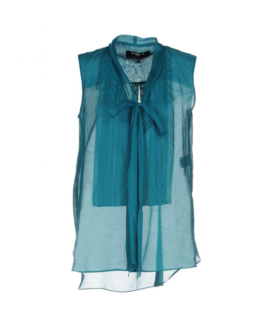 Image for SHIRTS Paule Ka Emerald green Woman Cotton