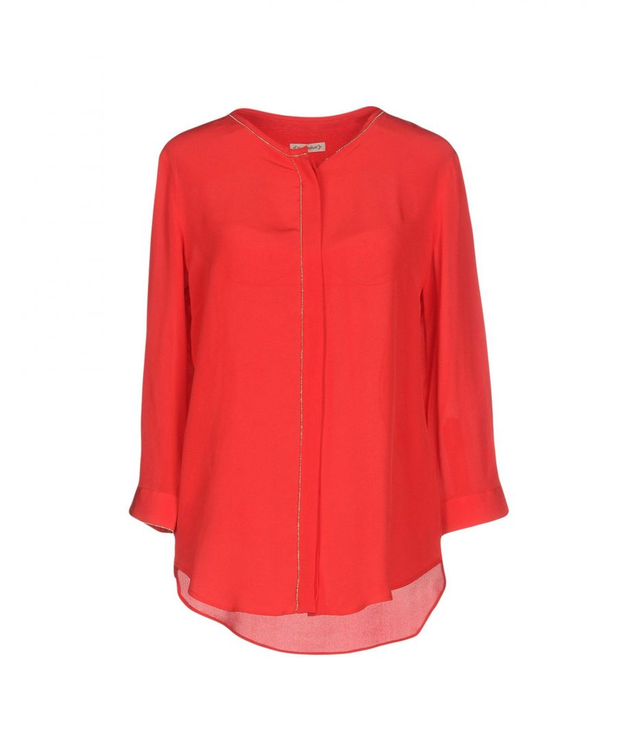 Image for Camicettasnob Red Silk Blouse