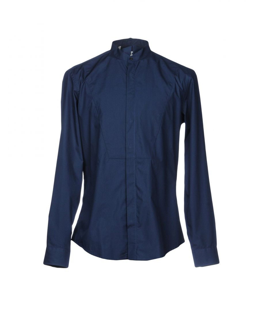 Image for MSGM Slate Blue Cotton Shirt