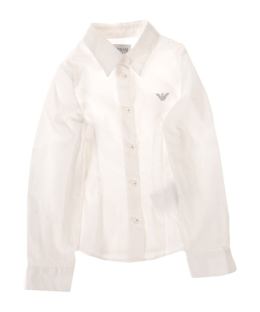 Image for SHIRTS Armani Junior White Girl Cotton