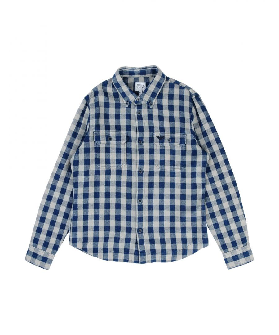 Image for SHIRTS Armani Junior Blue Boy Cotton