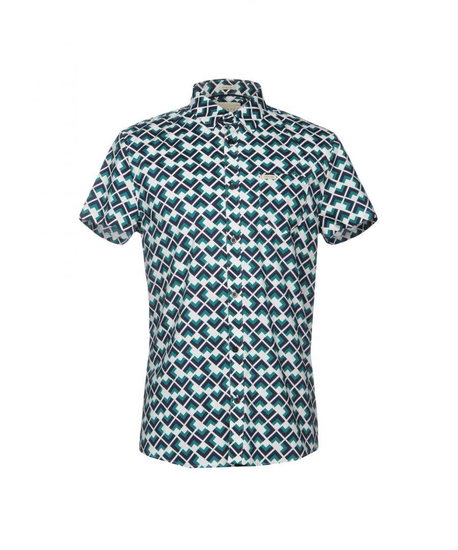 Image for Guess Deep Jade Print Cotton Short Sleeve Shirt