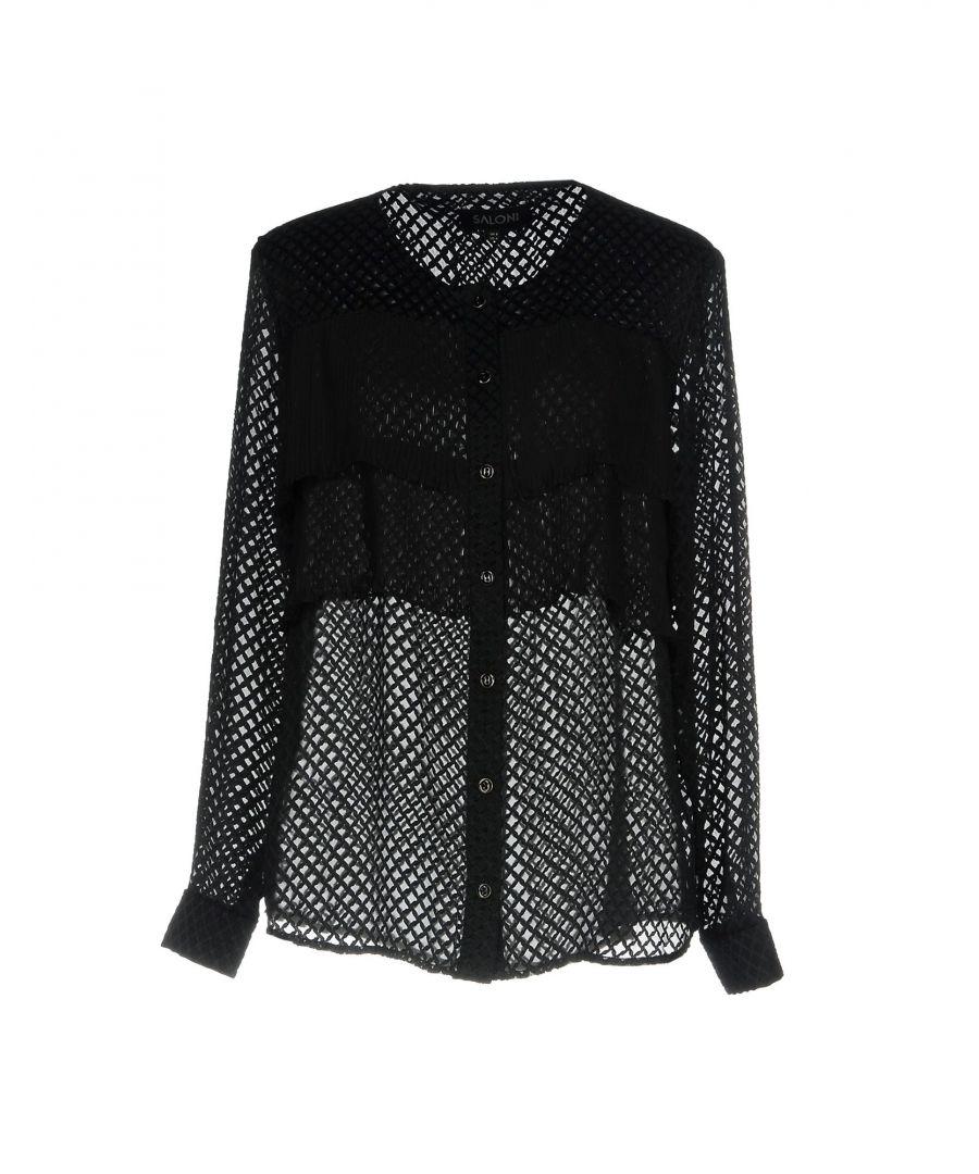 Image for Saloni Black Jacquard Shirt