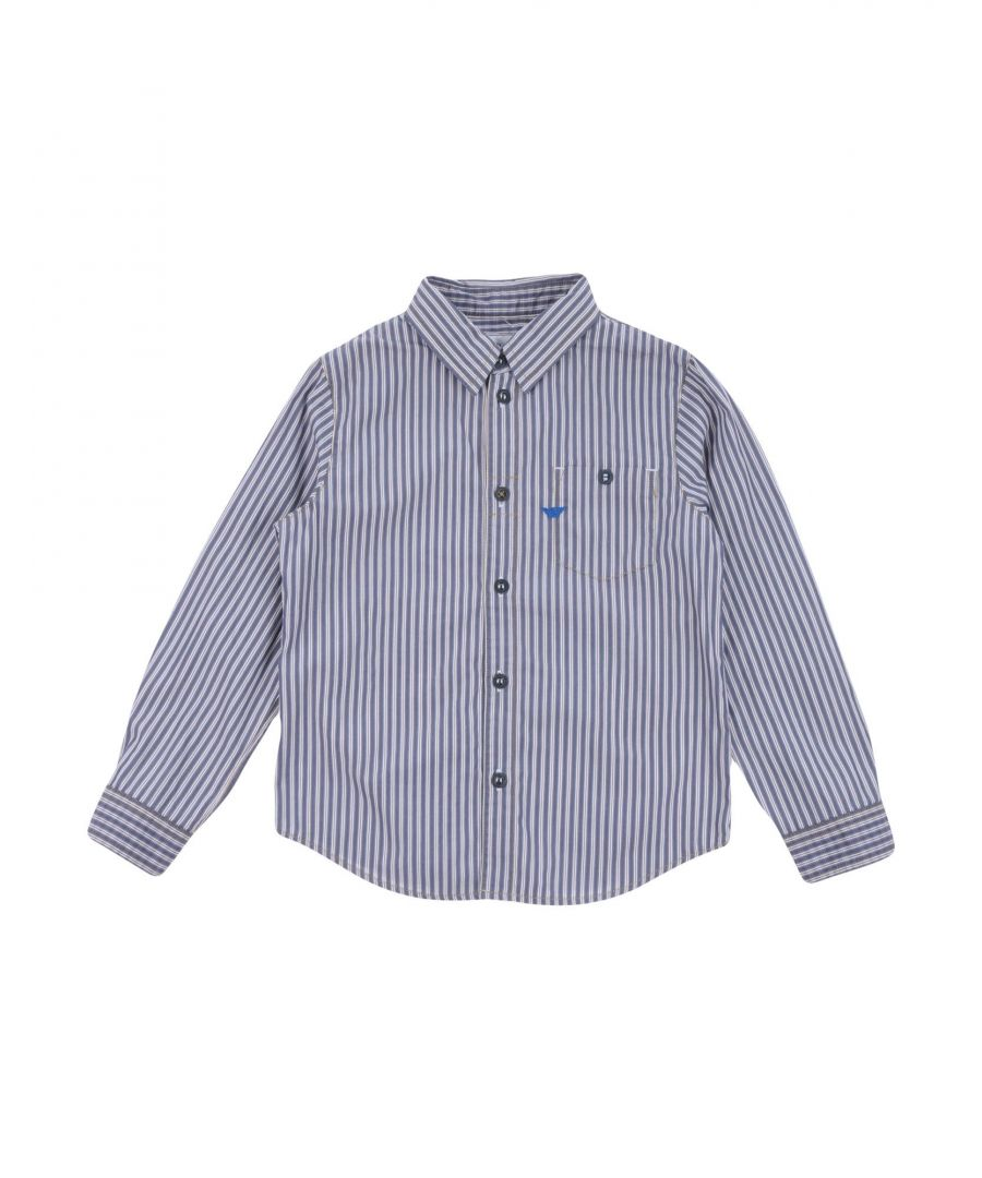 Image for Armani Junior Slate Blue Boy Cotton Shirt