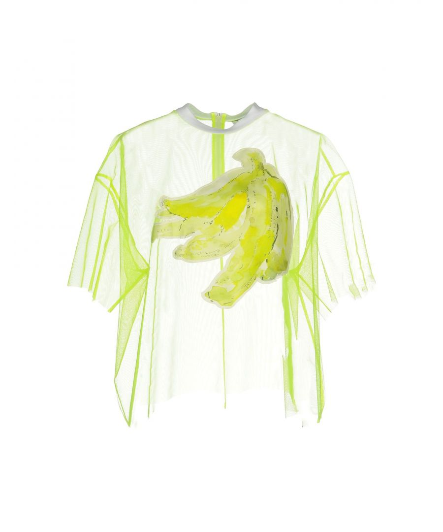 Image for MSGM Yellow Tulle Blouse